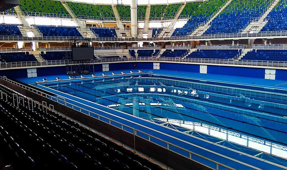 concrete competition pool public indoor indoor rio de janeiro 2016 xxxi olympic - Olympic Swimming Pool 2016