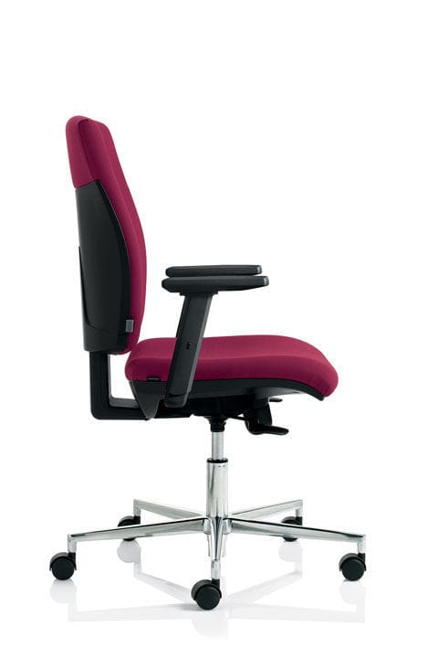Contemporary Office Chair With Armrests Upholstered On Casters