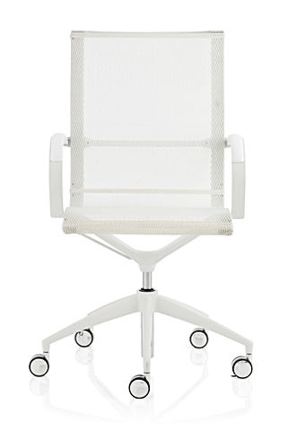 contemporary office chair / mesh / polyurethane / with armrests