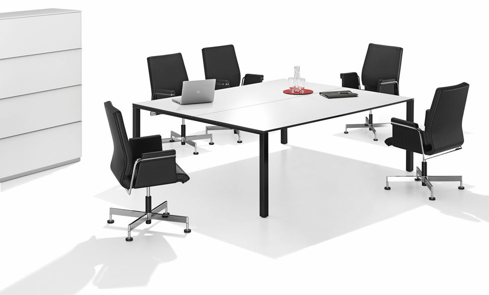 Contemporary boardroom table / metal / MDF / wood veneer - WINEA PRO ...