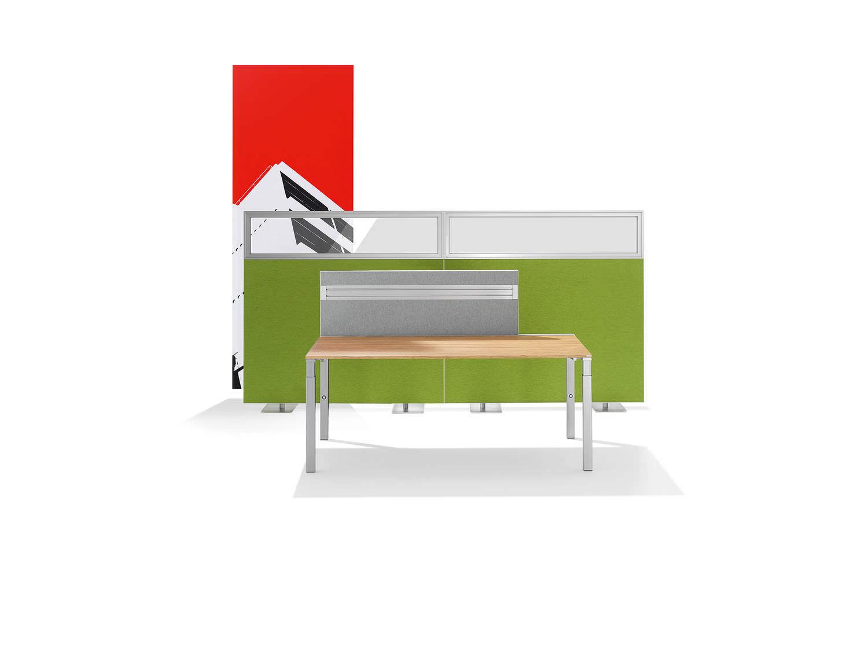 Partition wall acoustic panel / aluminum / textile / decorative ...