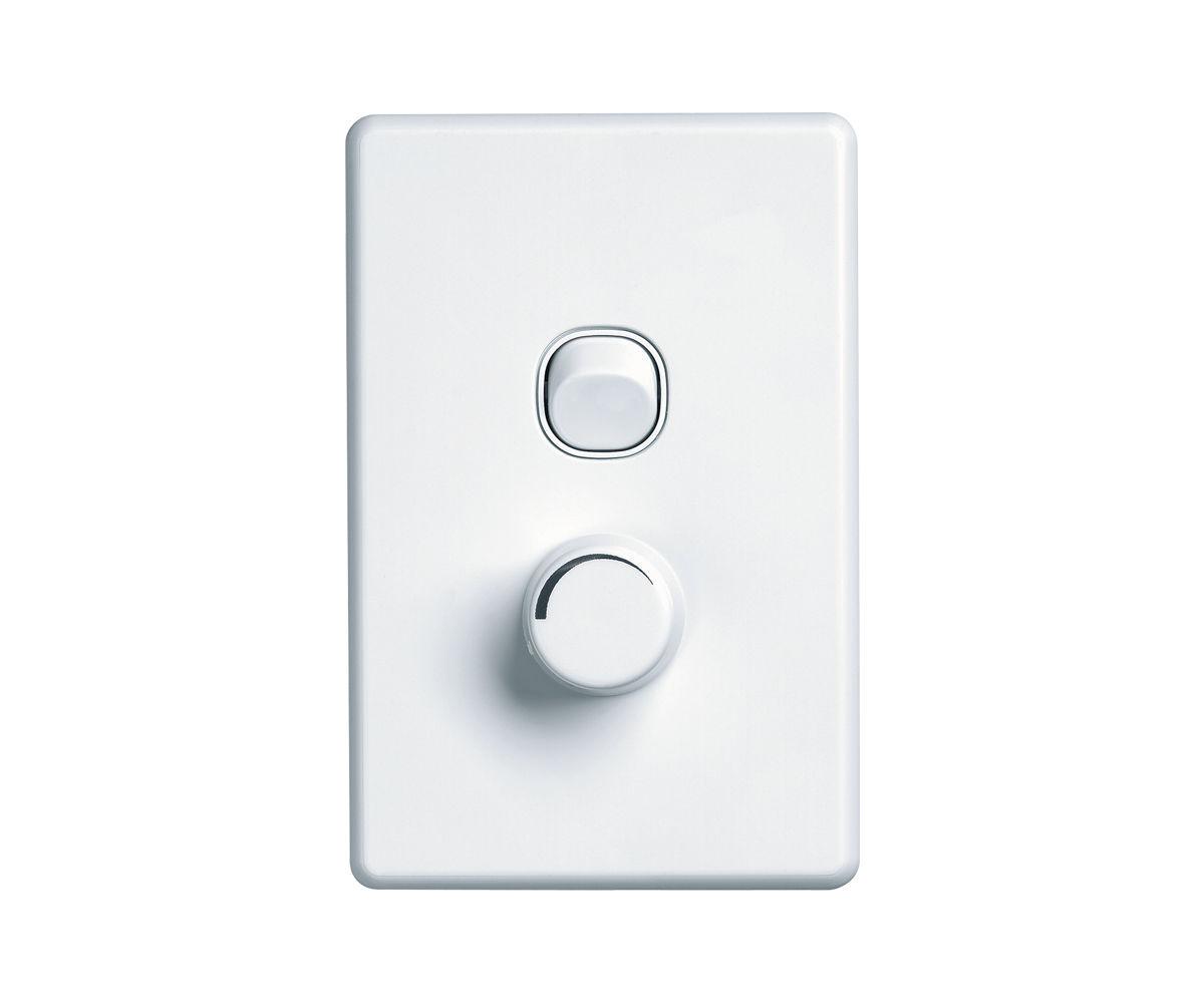 Light dimmer switch / rotating / plastic - Clipsal