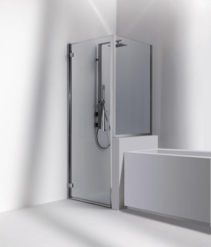 Swing shower screen / corner - DUNA: D1 - Bianchi & Fontana