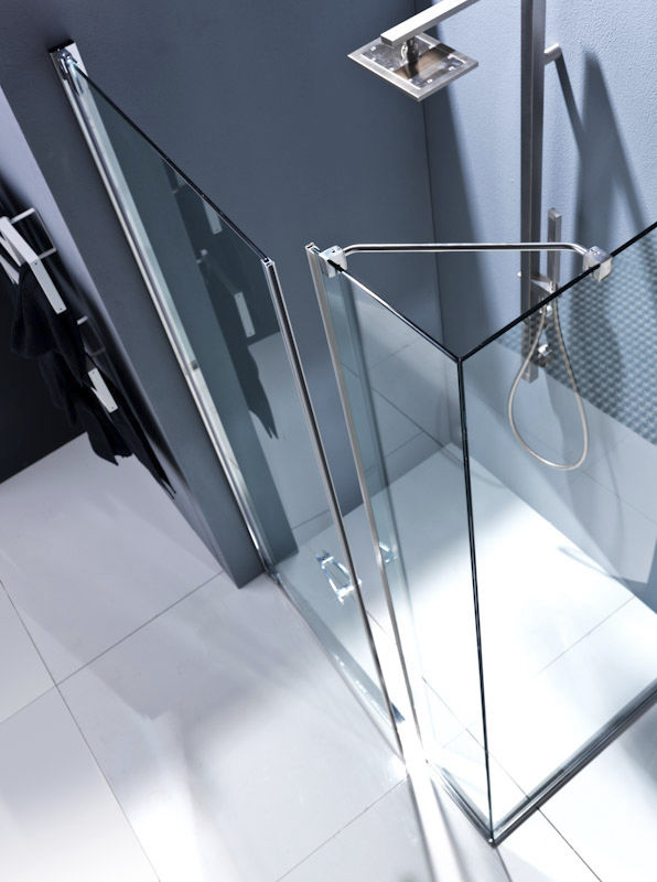 Swing shower screen / for alcoves - NUBIAN: N1A - Bianchi & Fontana