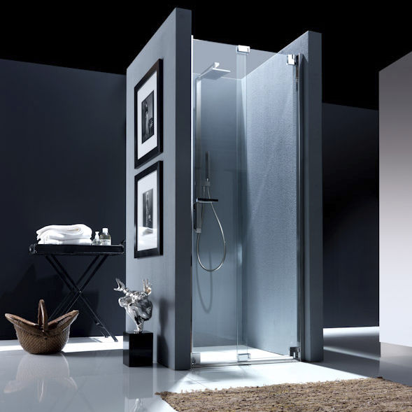 Folding shower screen / for alcoves - NUBIAN: NS1 - Bianchi & Fontana
