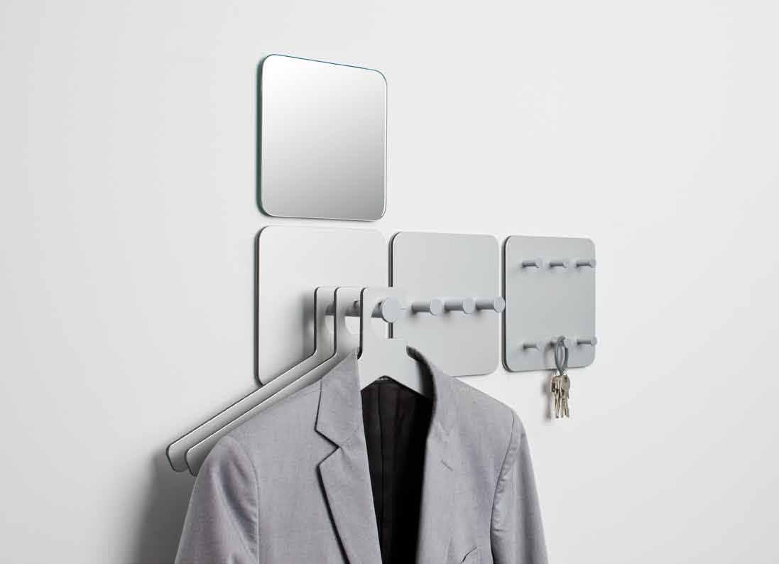... Contemporary coat hook / anodized aluminum / multiple / locker room  ROUND20 by Robert Bronwasser Cascando