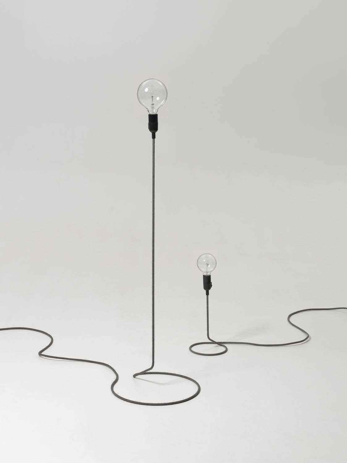 Floor-standing lamp / original design / metal - CORD by Form us ...