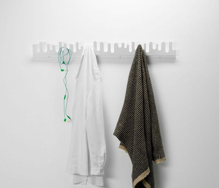Wallmounted Coat Rack Contemporary Metal WAVE By Nanni Holén Stunning Wave Coat Rack