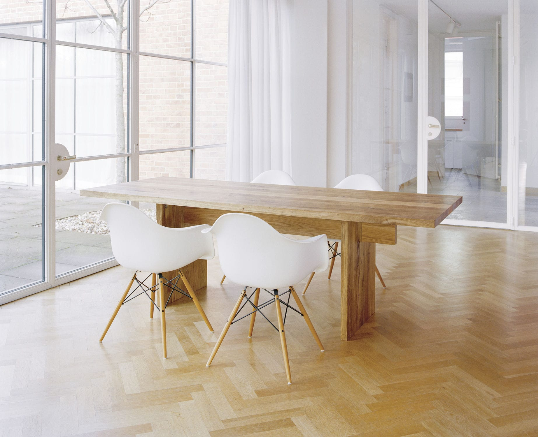 Contemporary table / oak / solid wood / oiled wood - TA02 JAPAN by ...