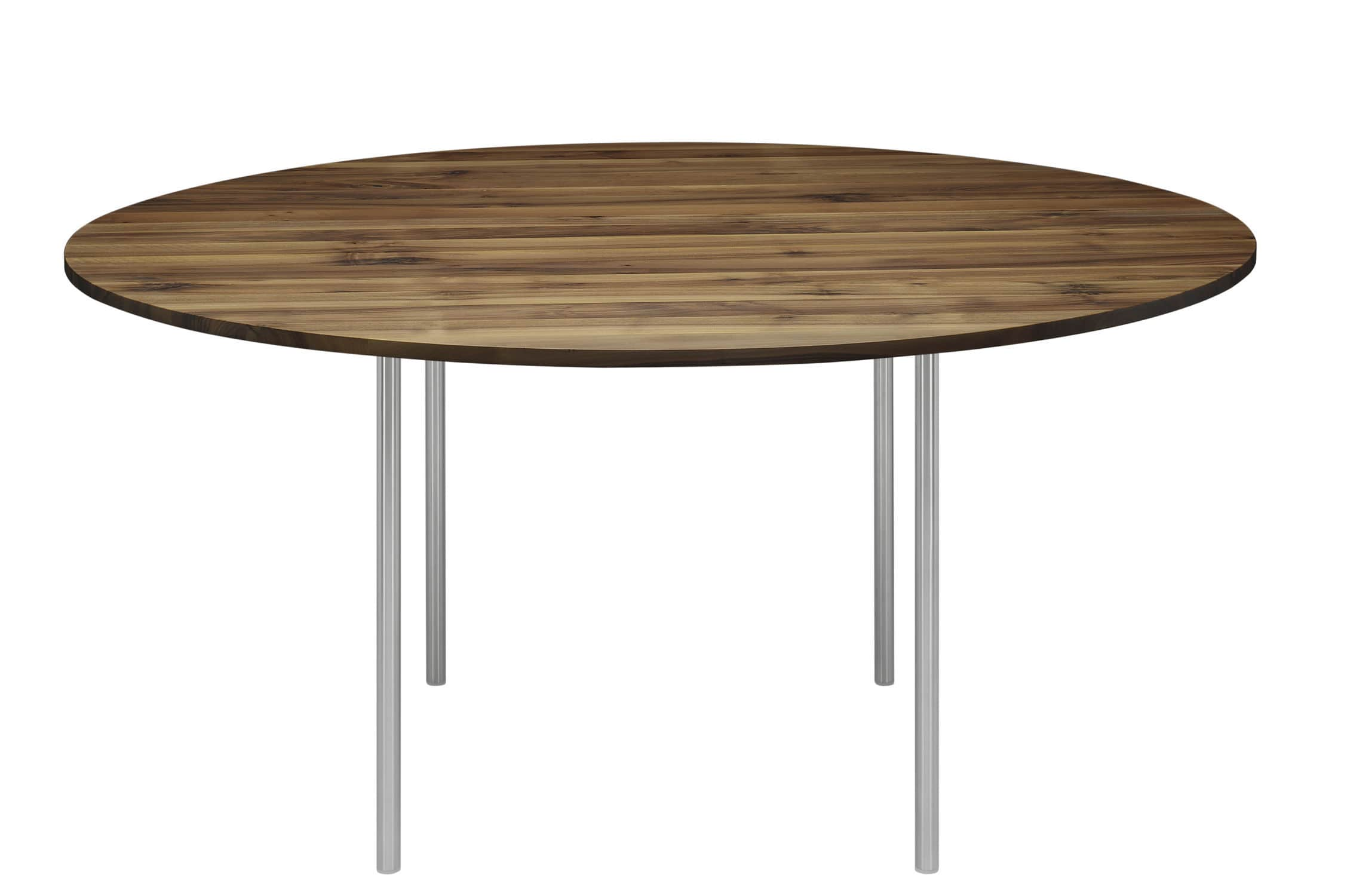 Dining table / contemporary / steel / oak - TA16 ANNA by Philipp ...
