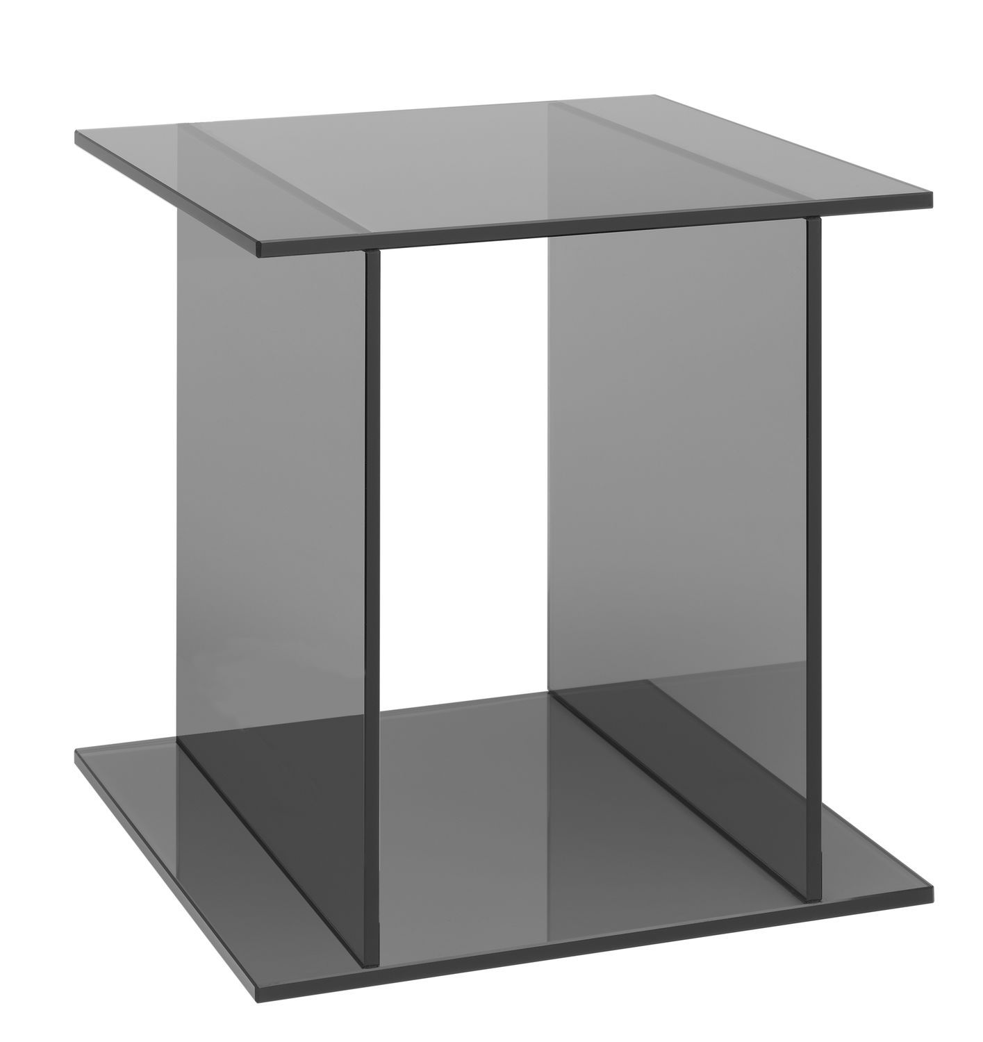 Contemporary Side Table / Glass / Square / For Public Buildings   CT07 DREI  By Philipp Mainzer