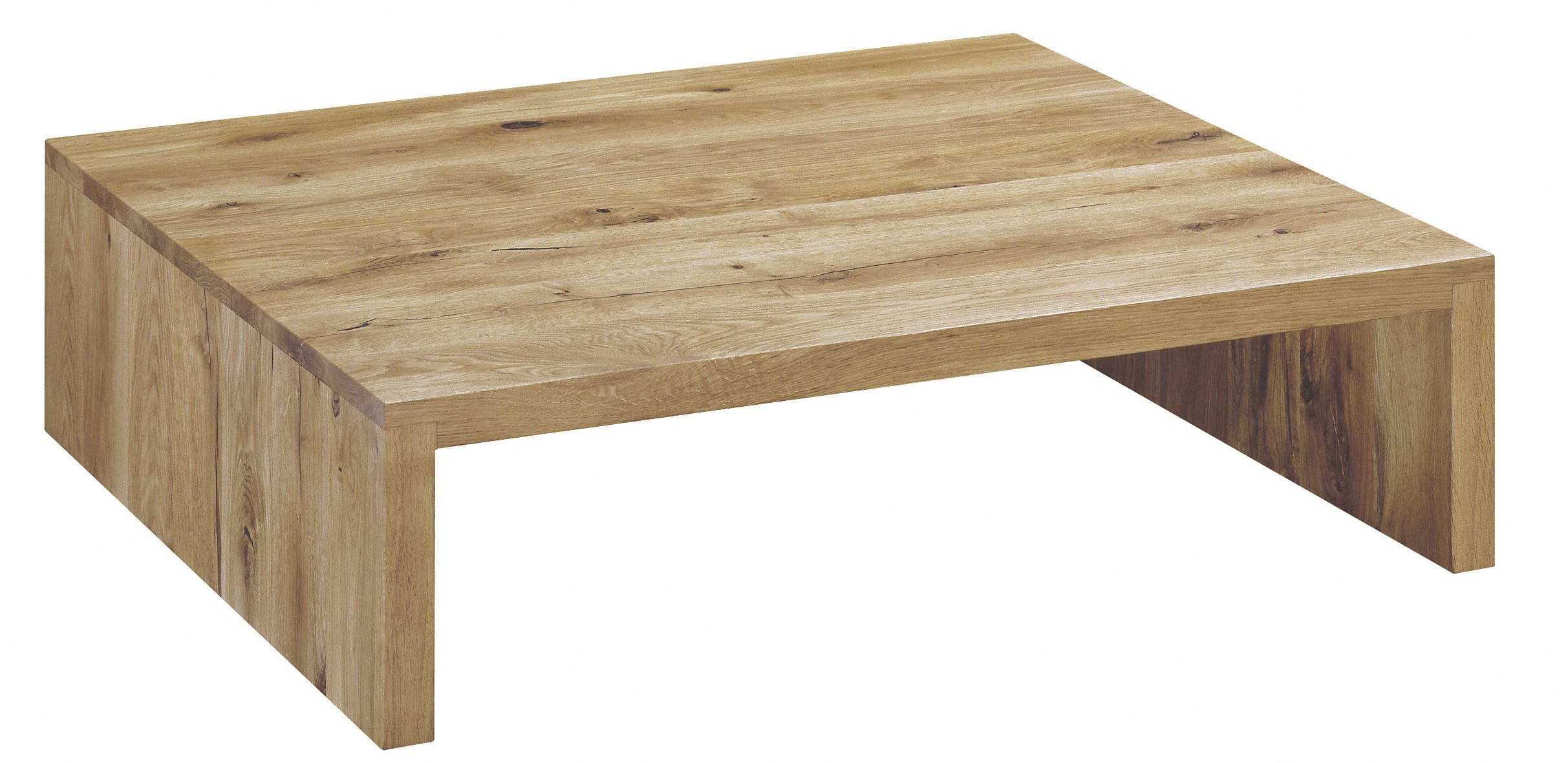 Contemporary coffee table oak oiled wood white oak CT01