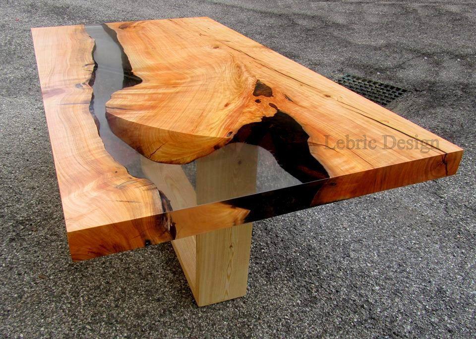 Contemporary Dining Table Wooden Resin Danubio Antico
