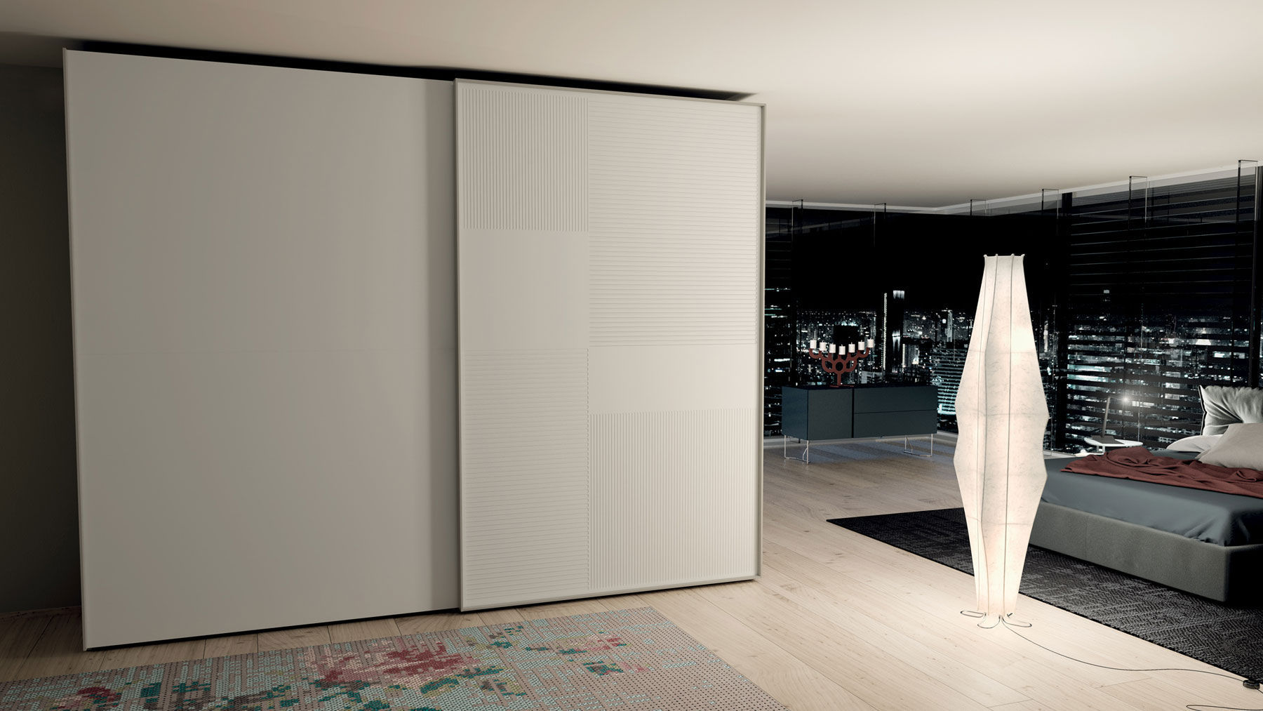 ... contemporary wardrobe / wooden / with sliding door ... & Contemporary wardrobe / wooden / with sliding door - LOOM - CACCARO