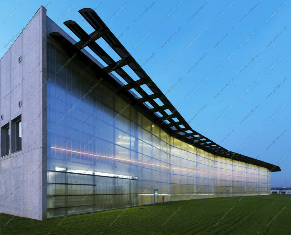 Curtain wall panel -  Polycarbonate Curtain Wall Panel Modular Sep