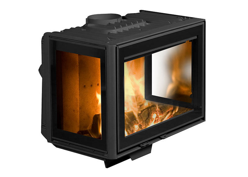 Wood fireplace insert / corner - 2575CBS3 - Wood Fireplace Insert / Corner - 2575CBS3 - DOVRE France