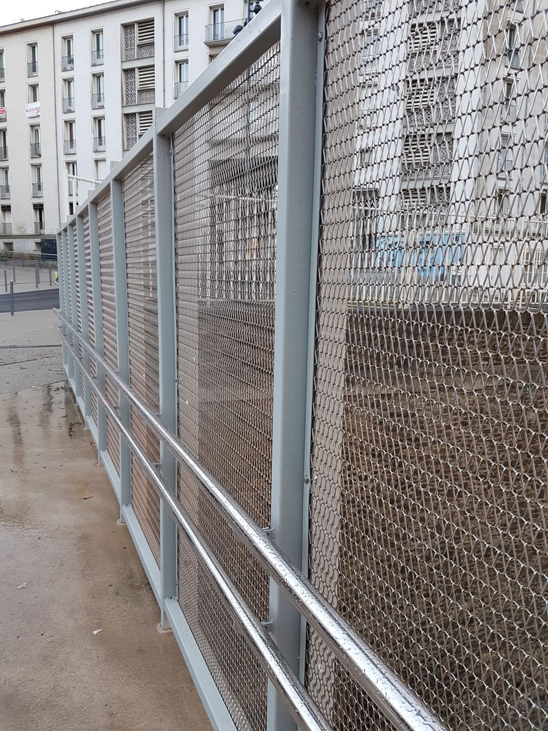 Wire facade mesh / stainless steel / twisted - MODULIA XL - MCI