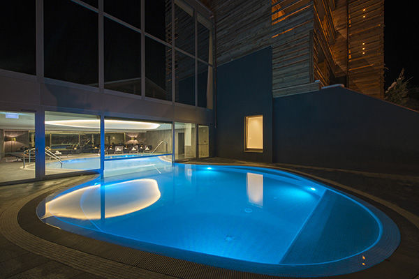 In Ground Swimming Pool Concrete Outdoor Hotel Suisse