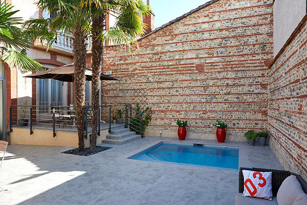 In Ground Swimming Pool Concrete Custom Outdoor Renovation