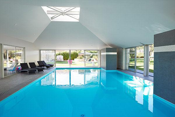 In Ground Swimming Pool Stone Custom Indoor Piscine