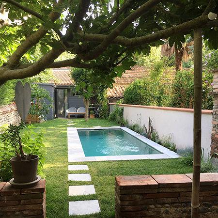 Piscine Dans Petit Jardin in-ground swimming pool / stone / custom / outdoor - petit jardin