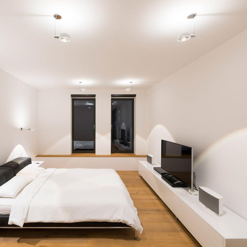 Contemporary Ceiling Light Round Glass Aluminum Sento Faro