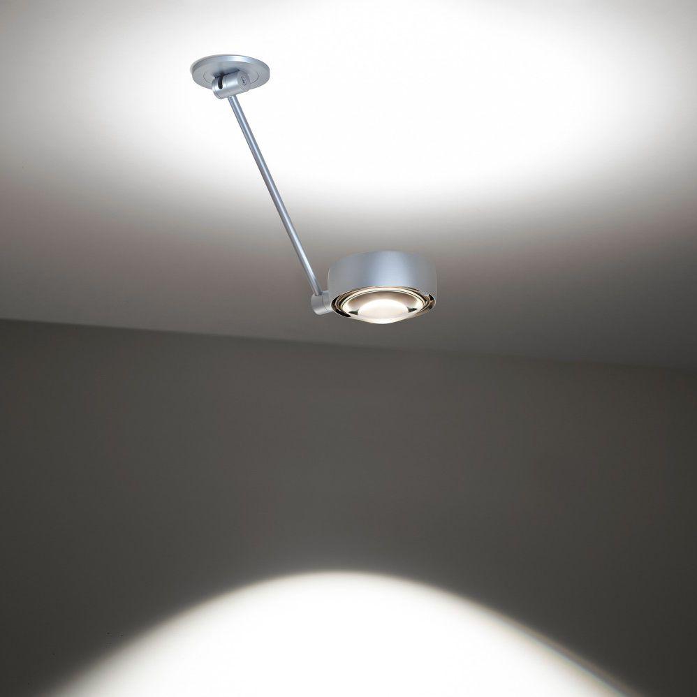 Contemporary Ceiling Light Round Glass Aluminum Sento