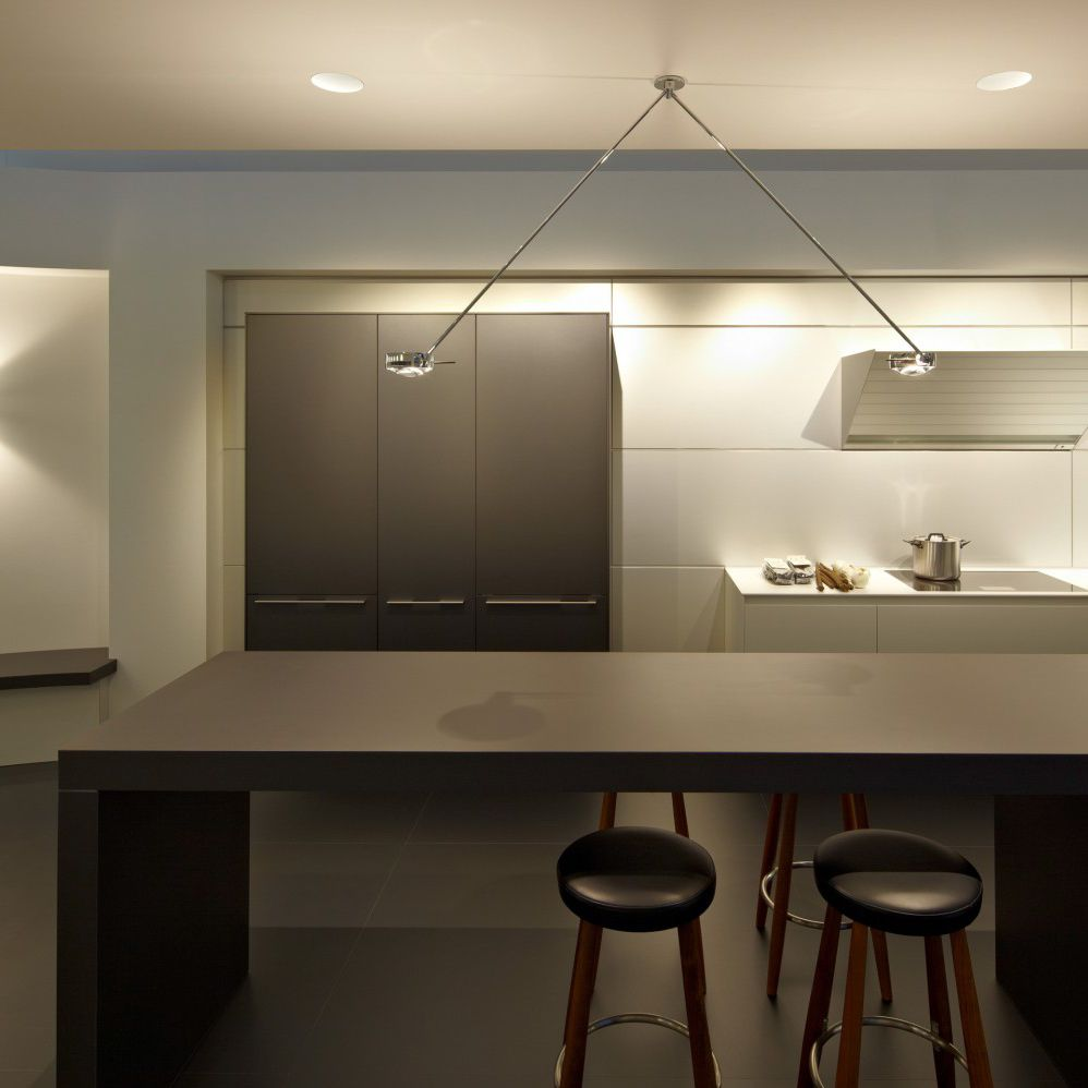 Pendant Lamp Contemporary Aluminum Steel Sento Soffitto Due