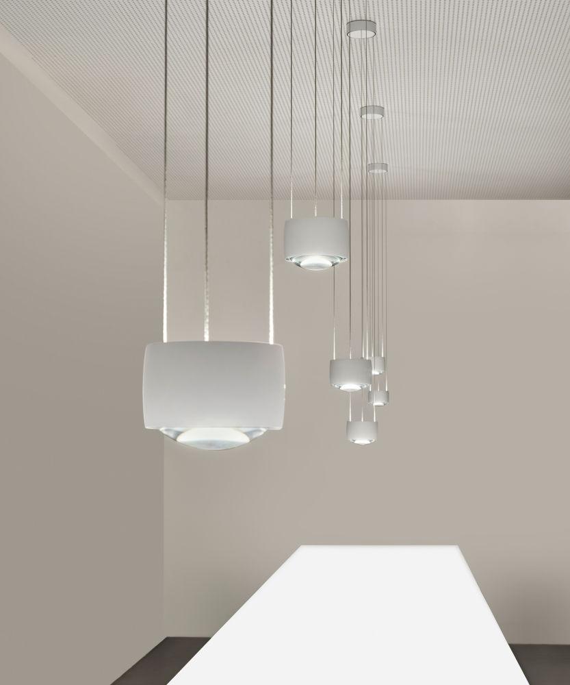 Pendant Lamp Contemporary Aluminum Steel Sento Sospeso