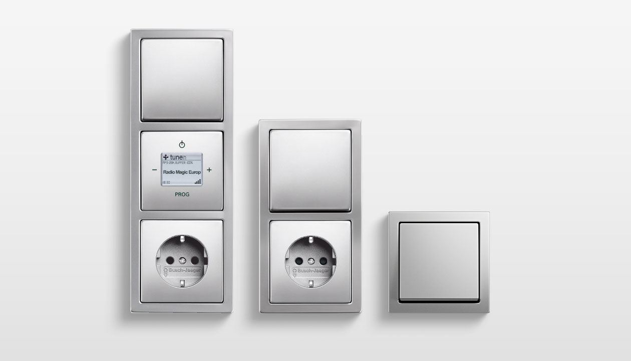 Light switch / push-button / stainless steel / contemporary - PURE ...