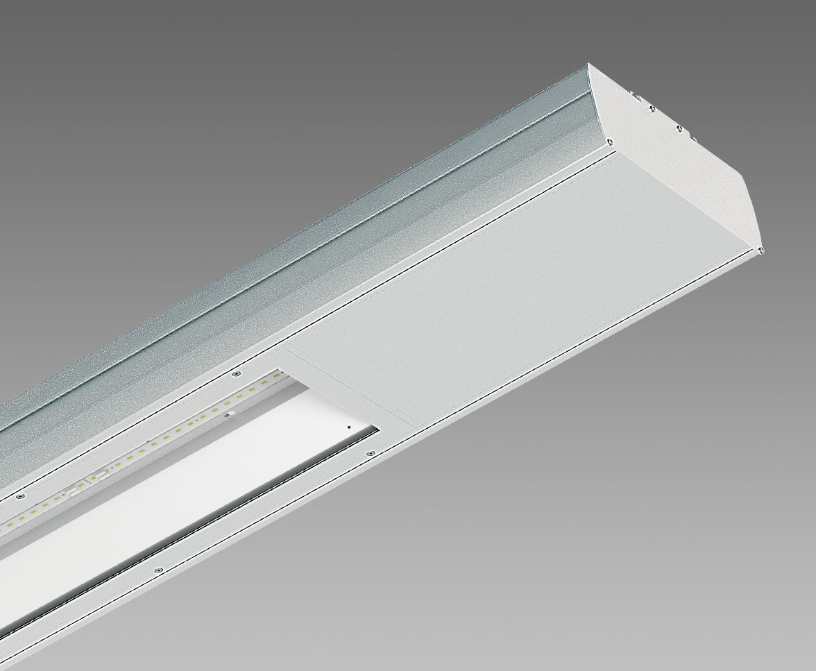 Hanging light fixture led linear extruded aluminum cometa