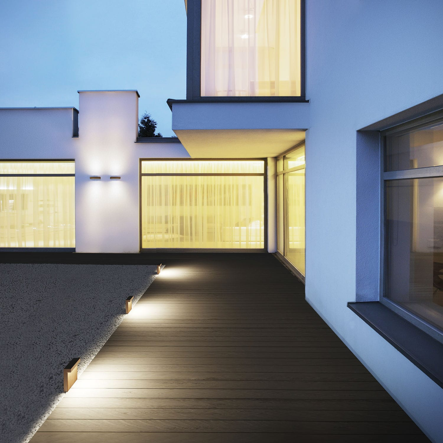 Contemporary wall light / outdoor / glass / wood - LOOK by Matteo ...