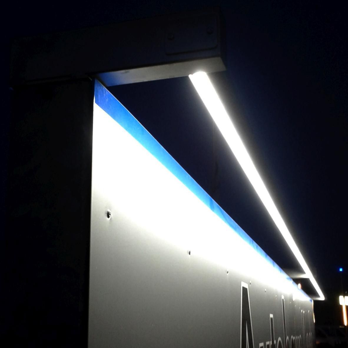 Surface Mounted Light Fixture Led Linear Outdoor Lightline Type 232 Vario