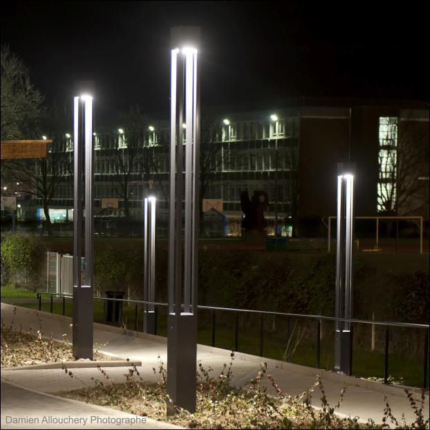 contemporary light column stainless steel led urban colonna