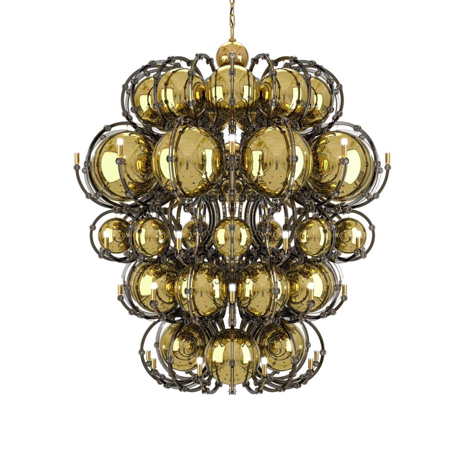 Contemporary chandelier crystal stainless steel maria theresa contemporary chandelier crystal stainless steel maria theresa king venus aloadofball Gallery