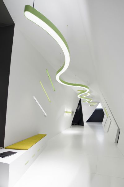 Hanging Lighting Profile Led Modular System Dimmable Super G Prolicht Gmbh