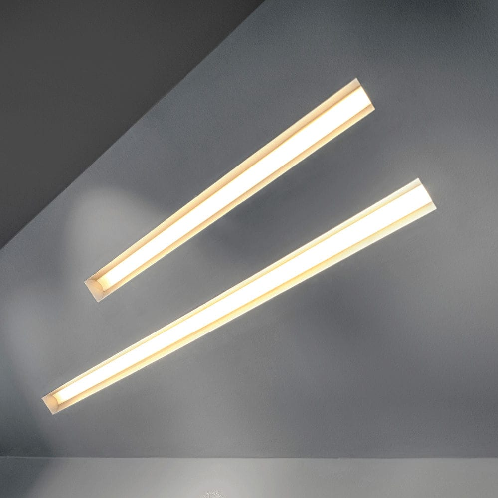 Built-in lighting profile / fluorescent / dimmable - TRIMLESS GROOVE ...