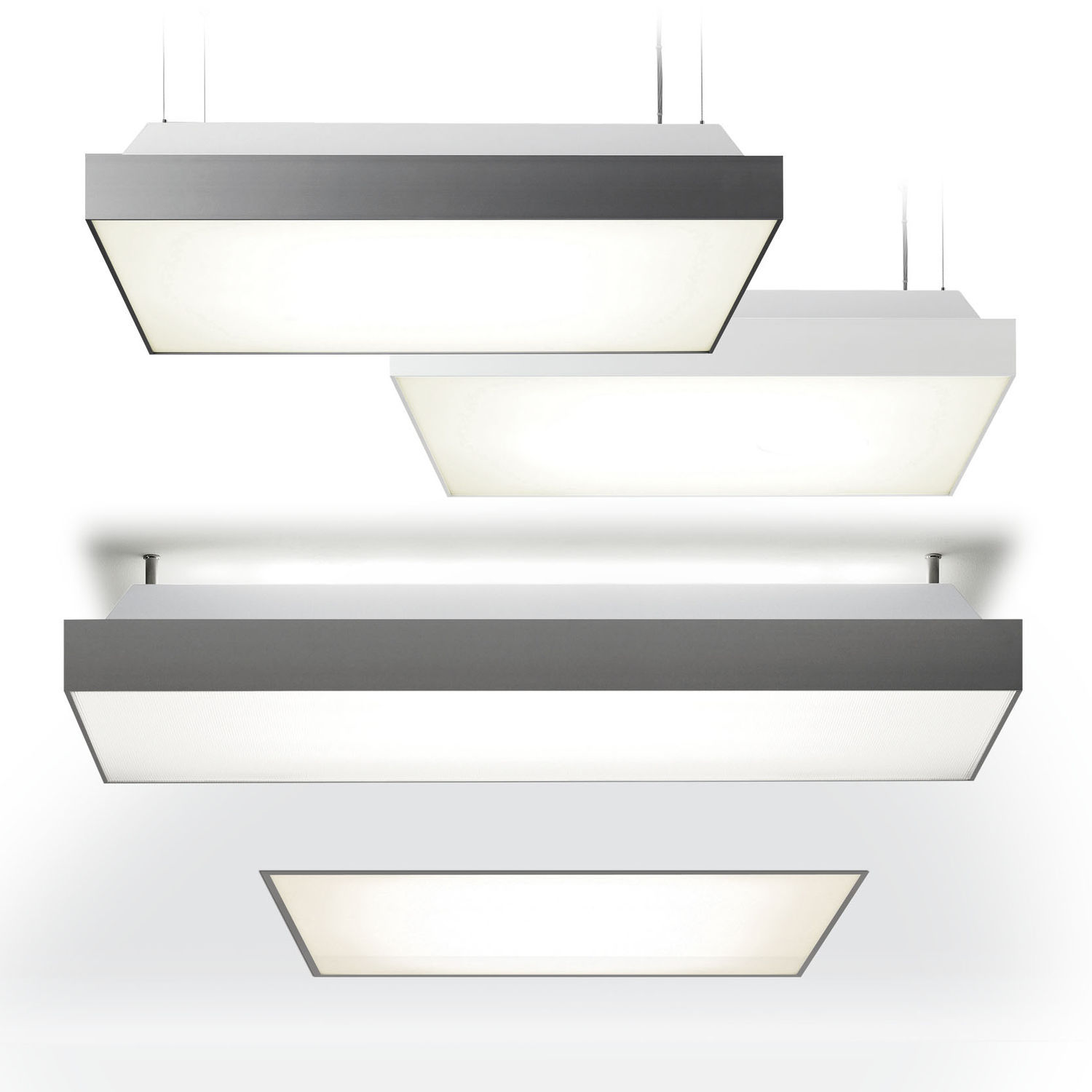 Surface-mounted light fixture / hanging / fluorescent / LED ...