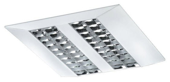 Recessed ceiling light fixture / fluorescent / square / linear ...