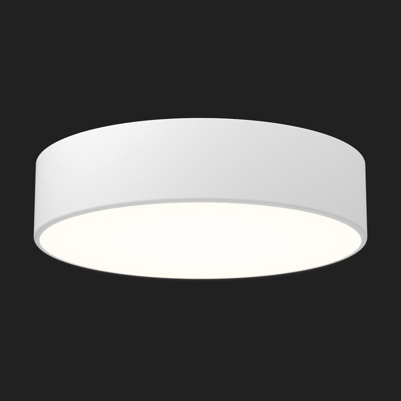 Contemporary ceiling light round aluminum polycarbonate contemporary ceiling light round aluminum polycarbonate full moon mozeypictures Gallery