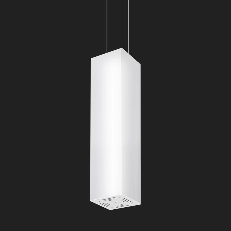 Pendant Lamp Contemporary Polycarbonate Height Adjustable TUNNEL SQUARE Doxis Lighting Factory NV