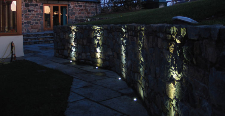 Recessed floor spotlight outdoor led round