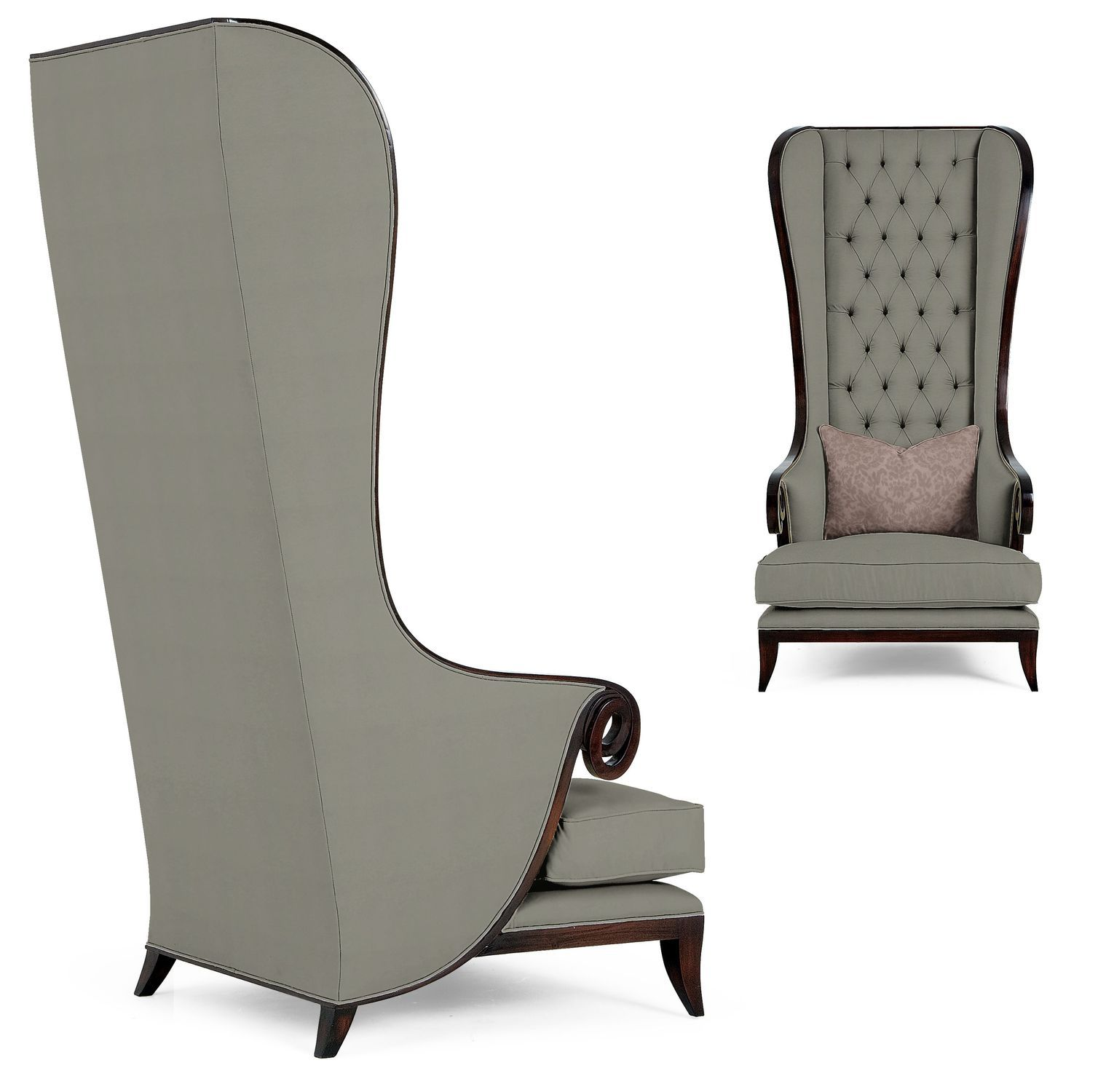 Superior Traditional Armchair / Leather / Wing / High Back ...