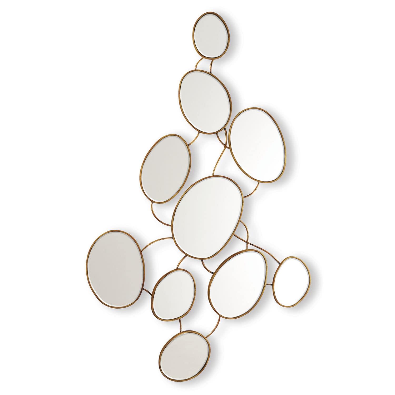 Wall Mounted Mirror Original Design Oval Metal Marshmallow 50 2736
