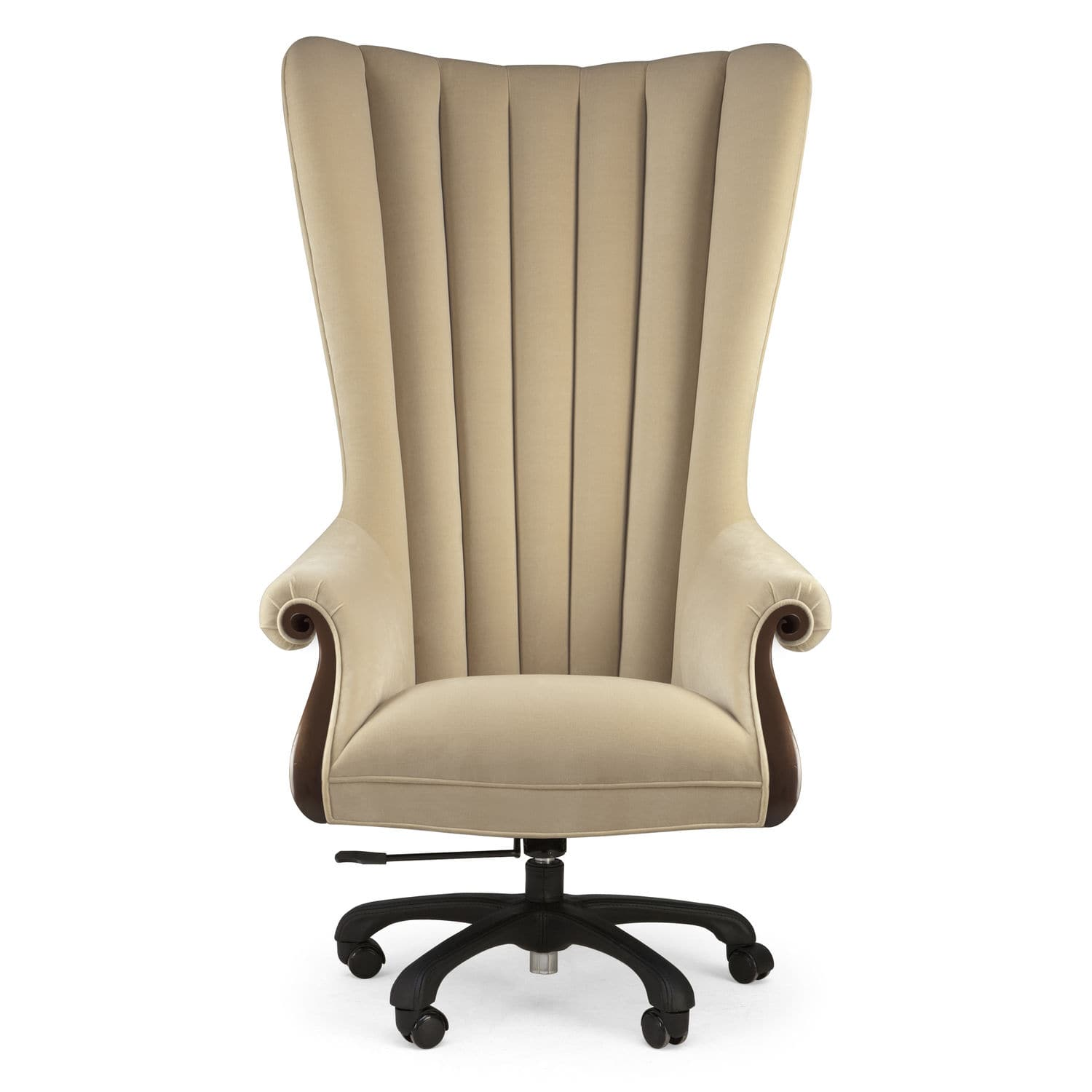 traditional executive chair fabric mahogany solid wood pr