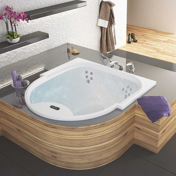 Acrylic bathtub / medical / 3-seater / hydromassage - ONTARIO ...
