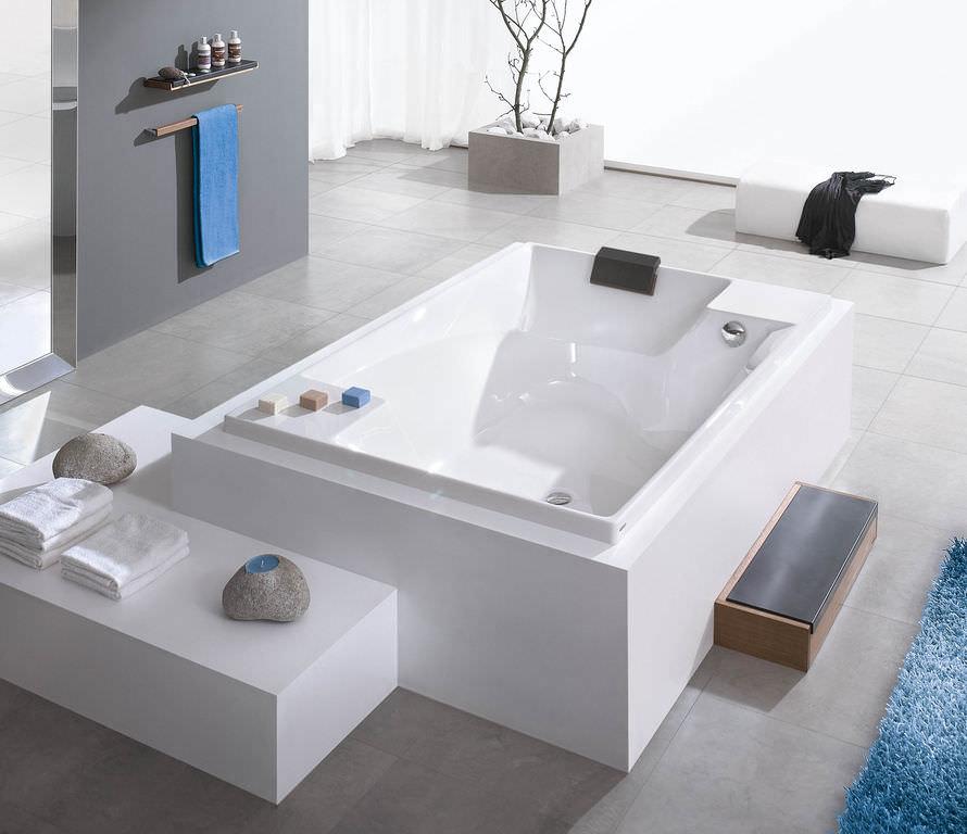 built-in bathtub / acrylic / double / deep - santee: 6652adolf