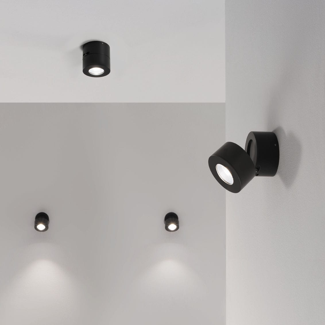 recessed spotlight wall mounted ceiling mounted indoor mind led favilla by manuel vivian ceiling mounted spot light