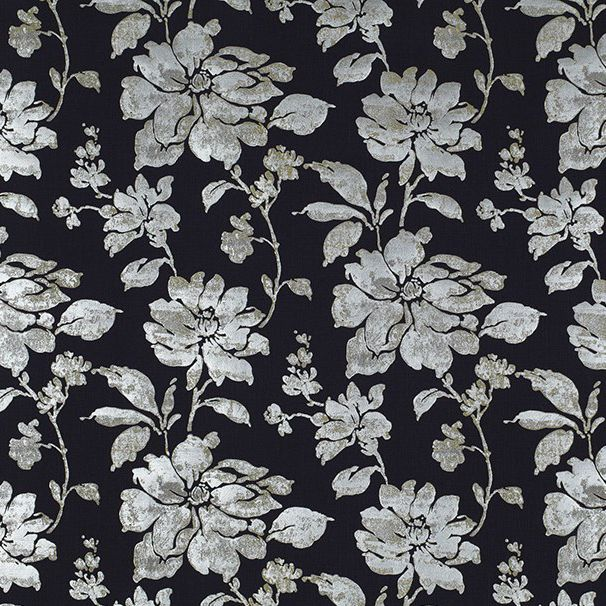 Upholstery Fabric For Curtains Floral Pattern Linen Caravans