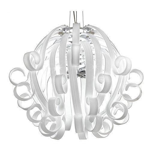Pendant lamp contemporary glass white medusa voltolina pendant lamp contemporary glass white medusa aloadofball Images